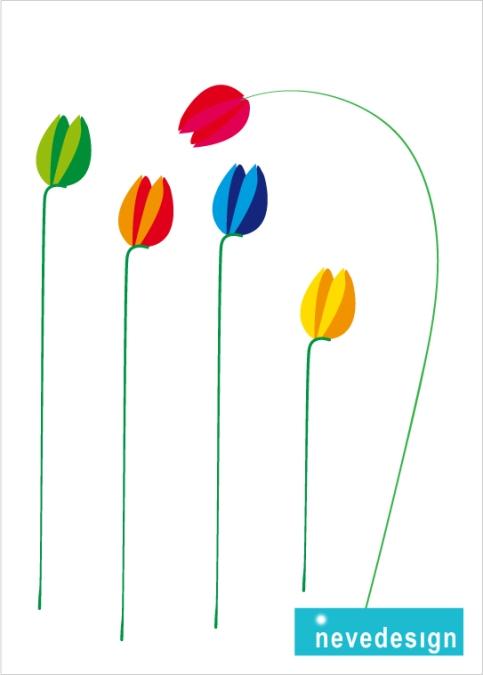 """Illustration: """"Tulips""""/ Tulipani"""