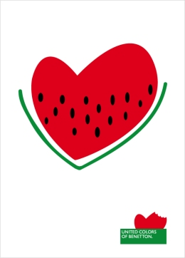 "T-shirt illustration ""Watermelon heart""/ Cuore anguria"