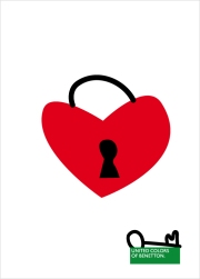 "T-shirt illustration: ""Heart padlock""/ Cuore lucchetto"